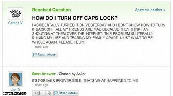 Cap Locks