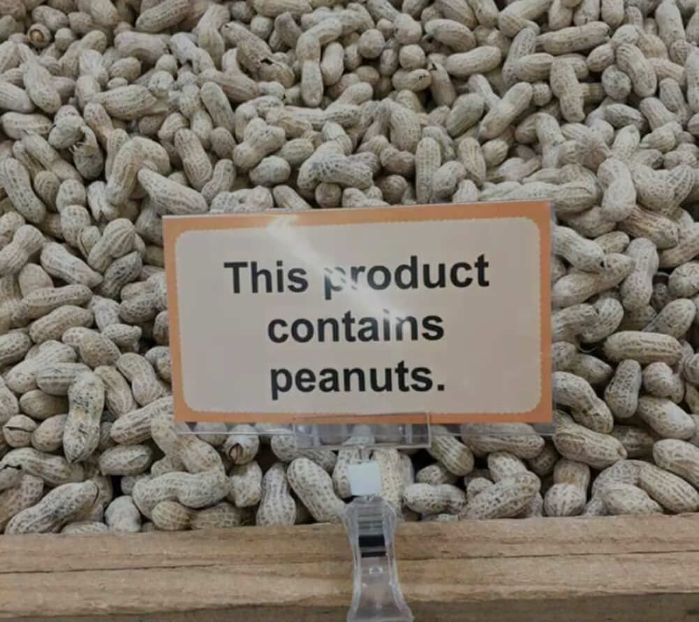 contains peanuts