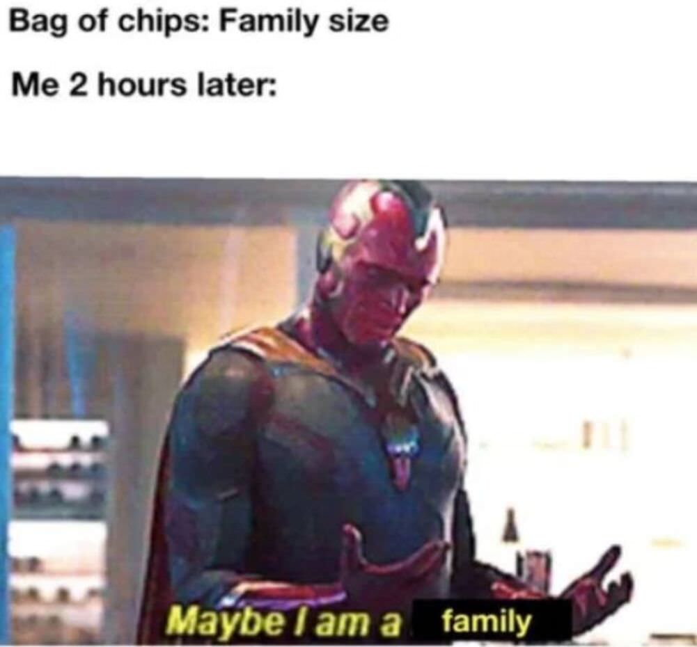 family sized bag of chips