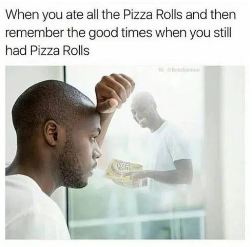 you ate the pizza rolls
