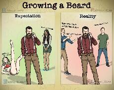 growing a beard